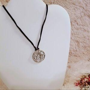 Vintage Silvertone Circle of Life Fashion Necklace